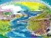 Artmoney-003-01100: At gå med strømmen - 12x18 cm - 200 kr.