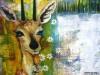 2007 - Dyr med horn: Hende med hornene - 60x80 cm - 2600 kr.